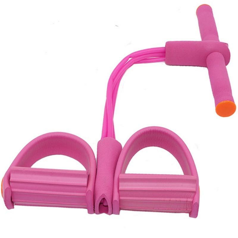 Эспандер многофункциональный с петлями для ног (розовый) B34485
