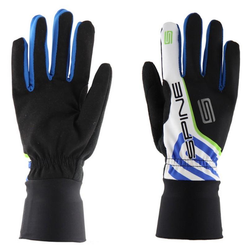 Перчатки лыжные Spine PRO 9982 черный\синий\зеленый