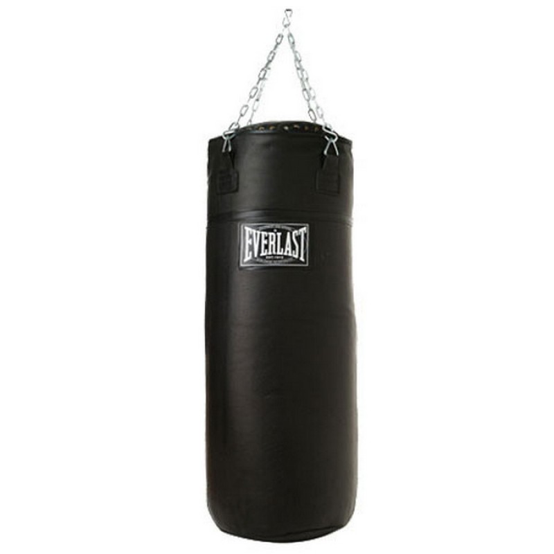 Боксерский мешок Everlast super leather 150lb черн. 251501