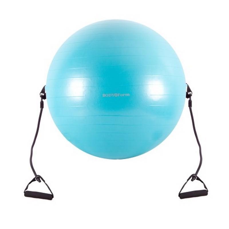 Гимнастический мяч с эспандером Body Form BF-GBE01AB d=55 см.