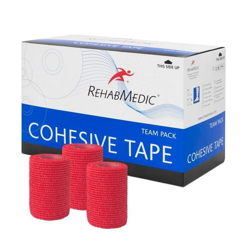 Тейп спортивный когезивный Rehab Cohesive Tape RMV0213RD, 7.5см x 4.6м, уп. 20 шт, красный