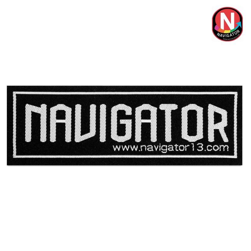 Нашивка Navigator Pro 96х35мм самоклеющаяся черная