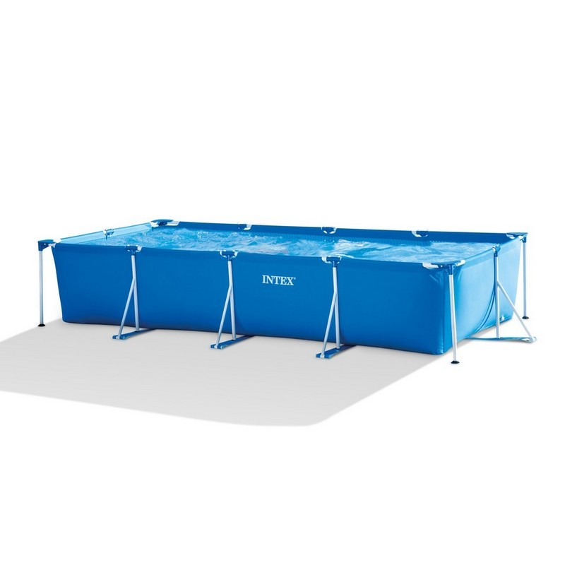 Каркасный бассейн прямоугольный 450х220х84см Intex Rectangular Frame 28273
