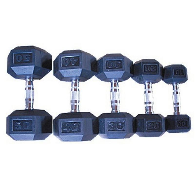 Гексагональный гантельный ряд от 32,5-40 кг Grome Fitness DB 139