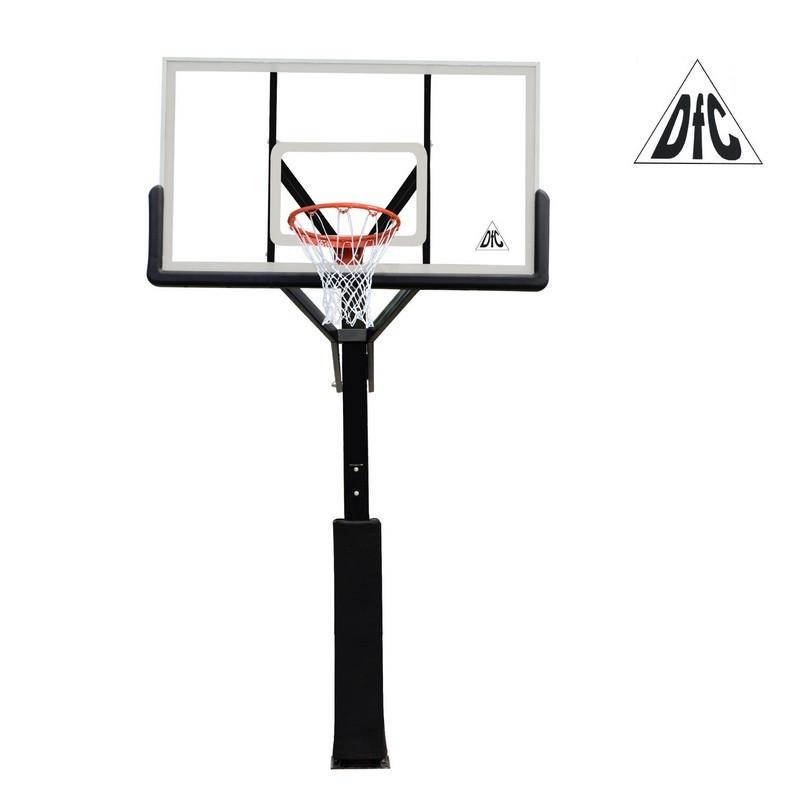 Баскетбольная стационарная стойка DFC ING72G 180x105CM стекло