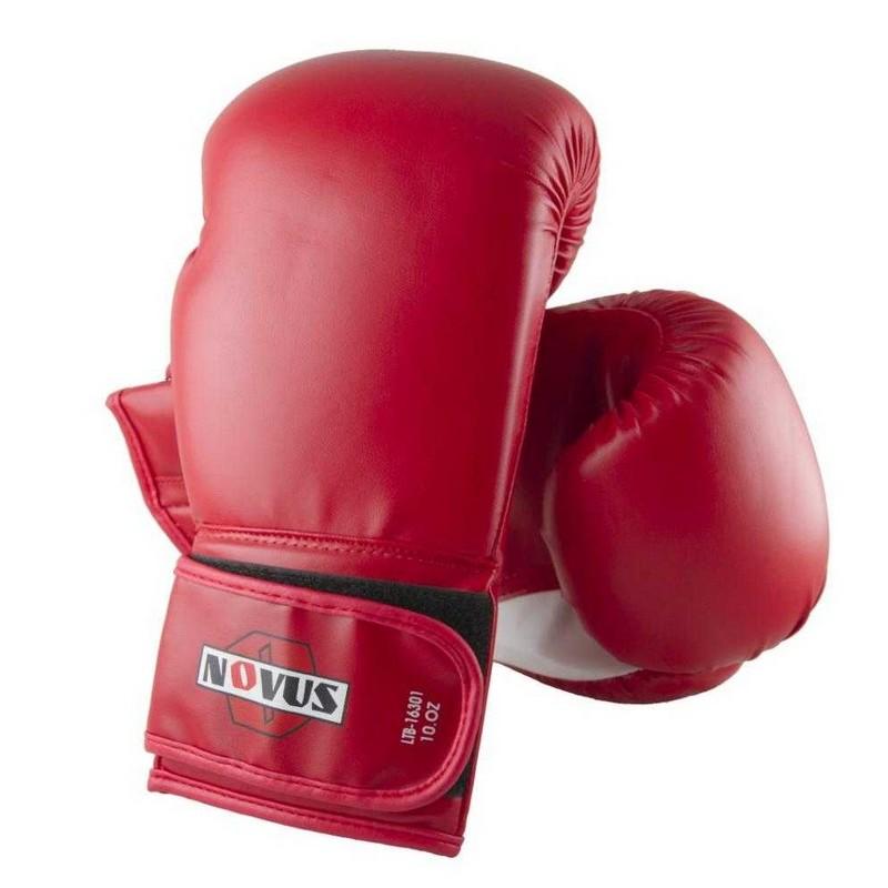 Перчатки боксерские Novus LTB-16301, 10 унций S/M, красные