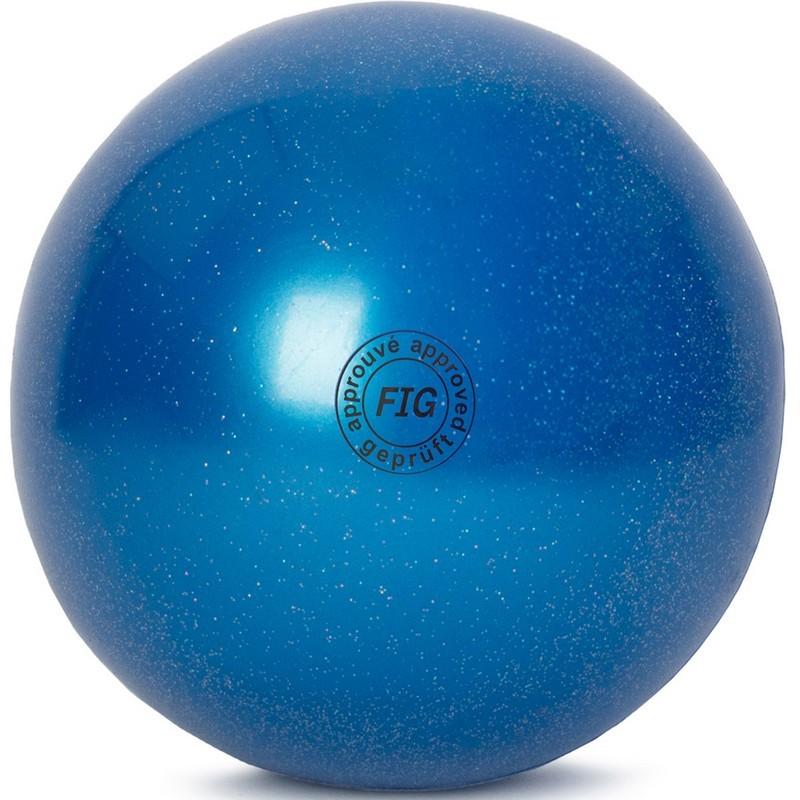 Мяч для художественной гимнастики 15 см GC 02 синий металлик