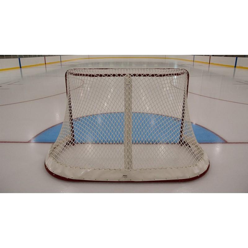 Сетка для хоккейных ворот ФСИ 060550, нить 5 мм (1,85х1,25х0,50х1,15м) белая