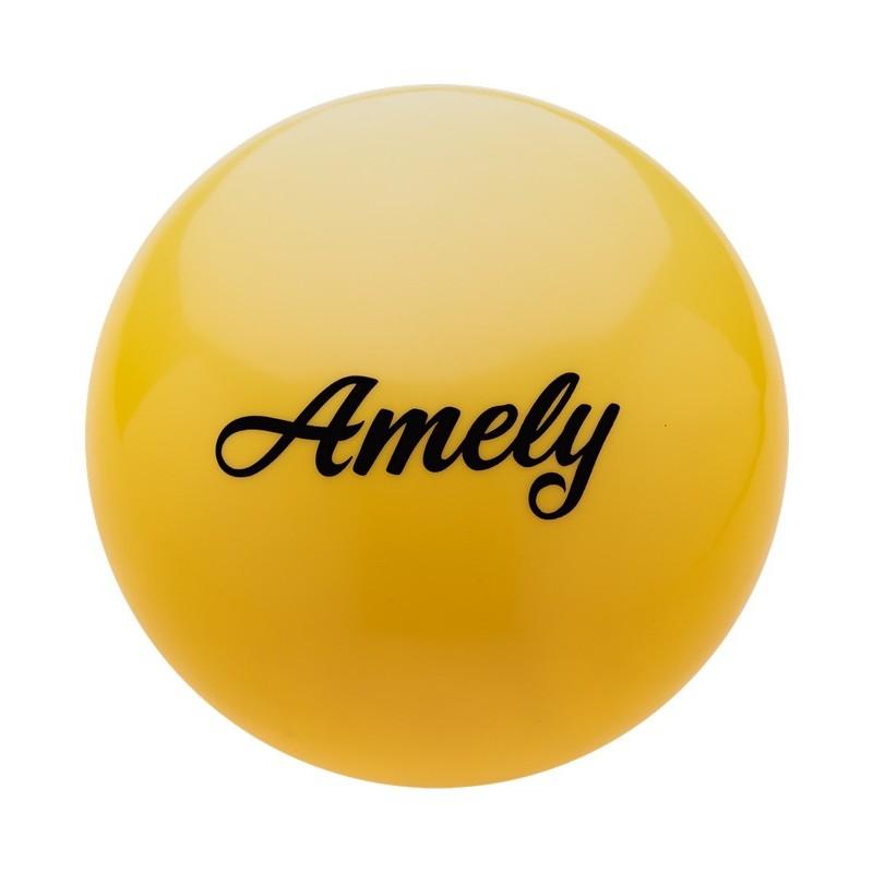 Мяч для художественной гимнастики Amely 19 см, AGB-101 желтый