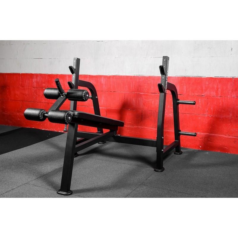 Олимпийская скамья с отрицательным углом YouSteel для жима