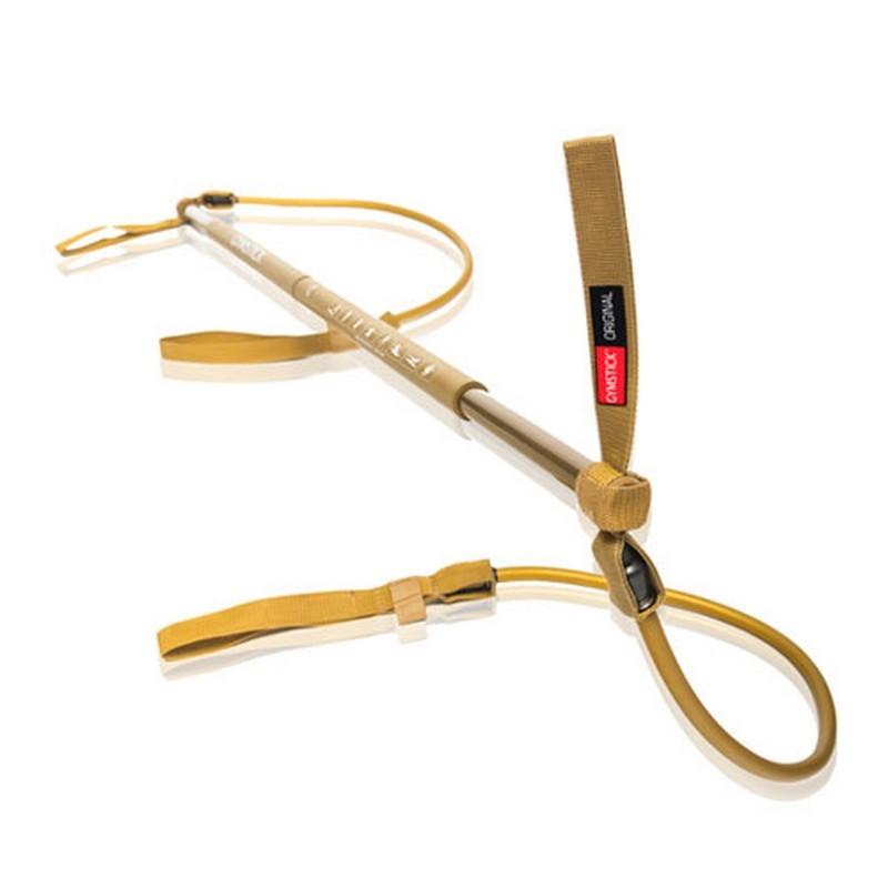 Гимнастическая палка с амортизатором Gymstick 11005 Сопротивление супер сильное (1-30 кг), золотой