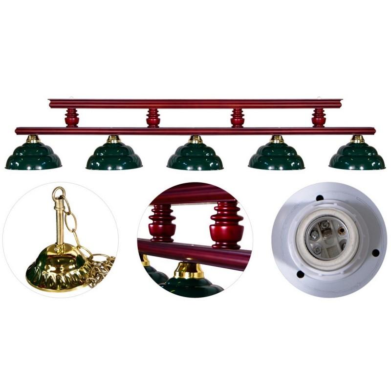 Лампа на пять плафонов Weekend Turnus II (вишня) 75.991.05.0