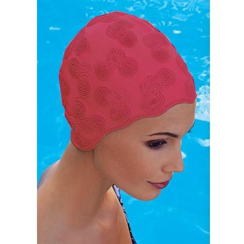 Шапочка для плавания Fashy Moulded Cap женская 3100-00-40 резина, красная