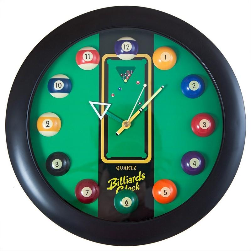 Часы настенные 12 шаров d32 см 40.129.12.0 черные, пластик