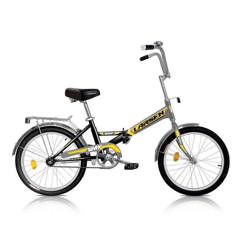 Велосипед Larsen Way 1ск, черный\желтый