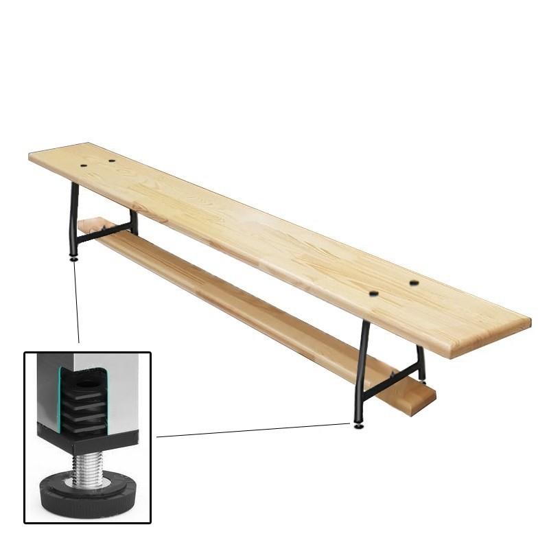 Скамейка гимнастическая Dinamika 2000мм (40 мм щит.сосна) ножки метал. с РО ZSO-003153