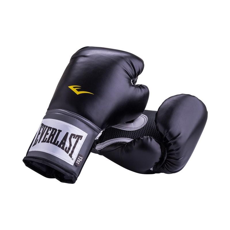 Перчатки тренировочные Everlast Pro Style Anti-MB 2312U, 12oz, к/з, черный