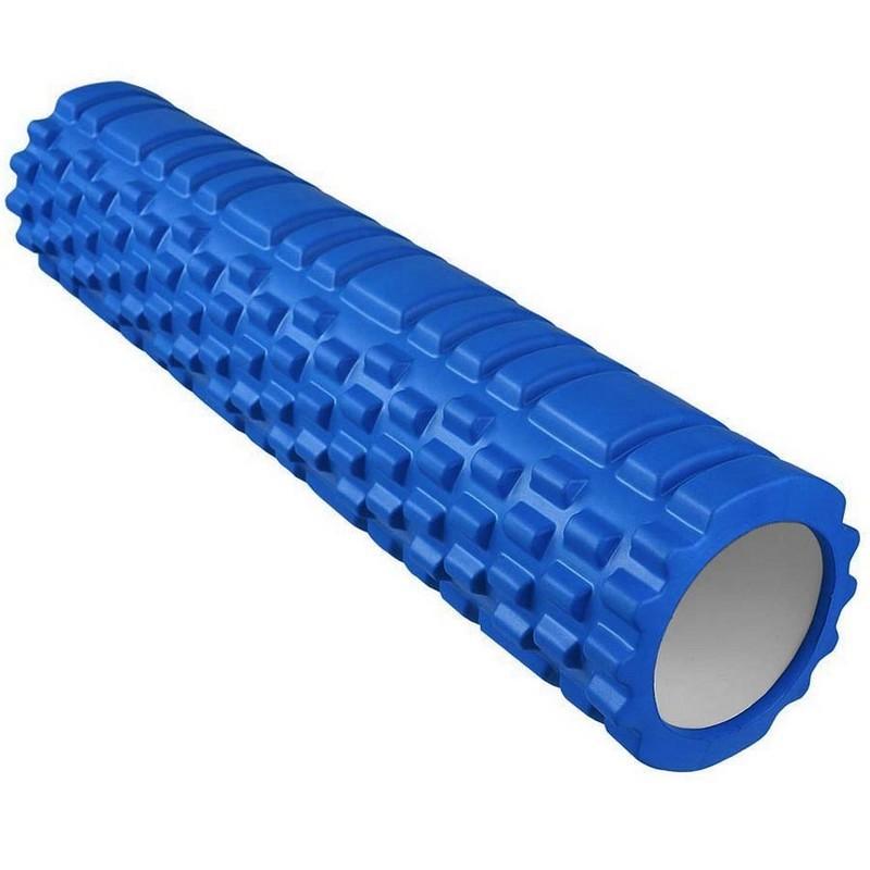 Ролик для йоги 60x14см ЭВА\АБС E29383 синий