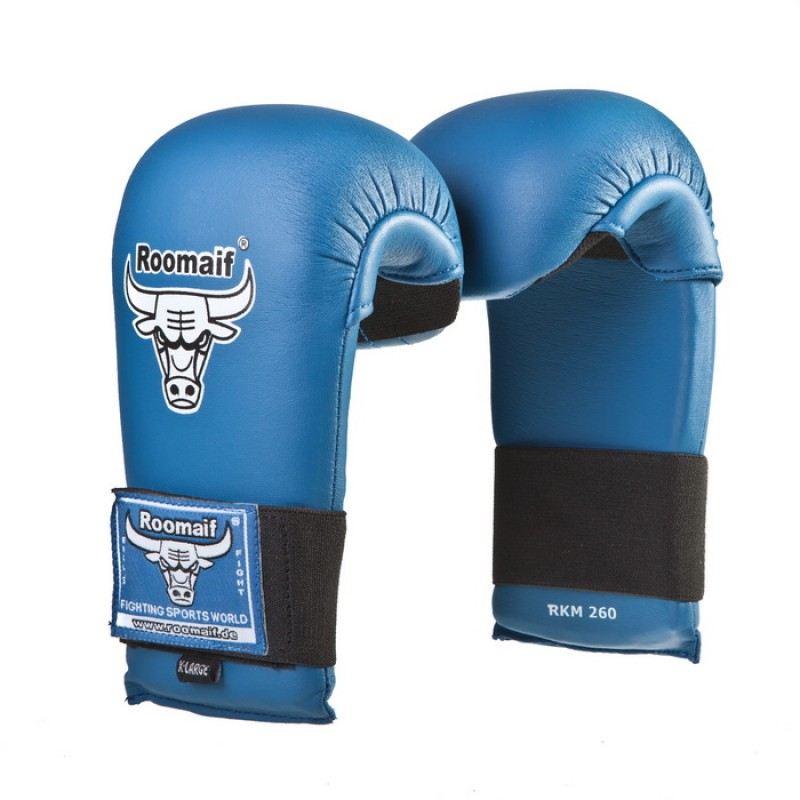 Спарринговые перчатки для каратэ Roomaif RKM-260 синие