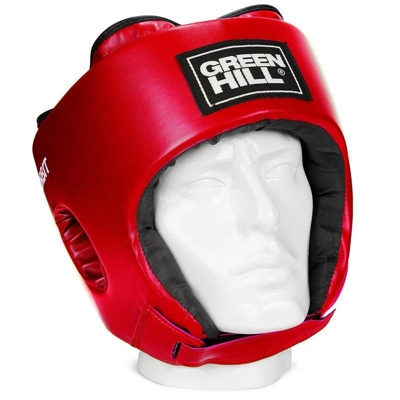 Шлем открытый детский Green Hill Orbit HGO-4030, кожзам, красный