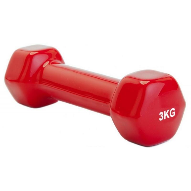Гантель обрезиненная 3 кг Bradex SF 0163 красный