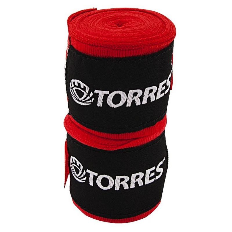 Бинт боксерский Torres PRL619016R, длина 2,5 м, ширина 5 см, 1 пара, хлопок, красный
