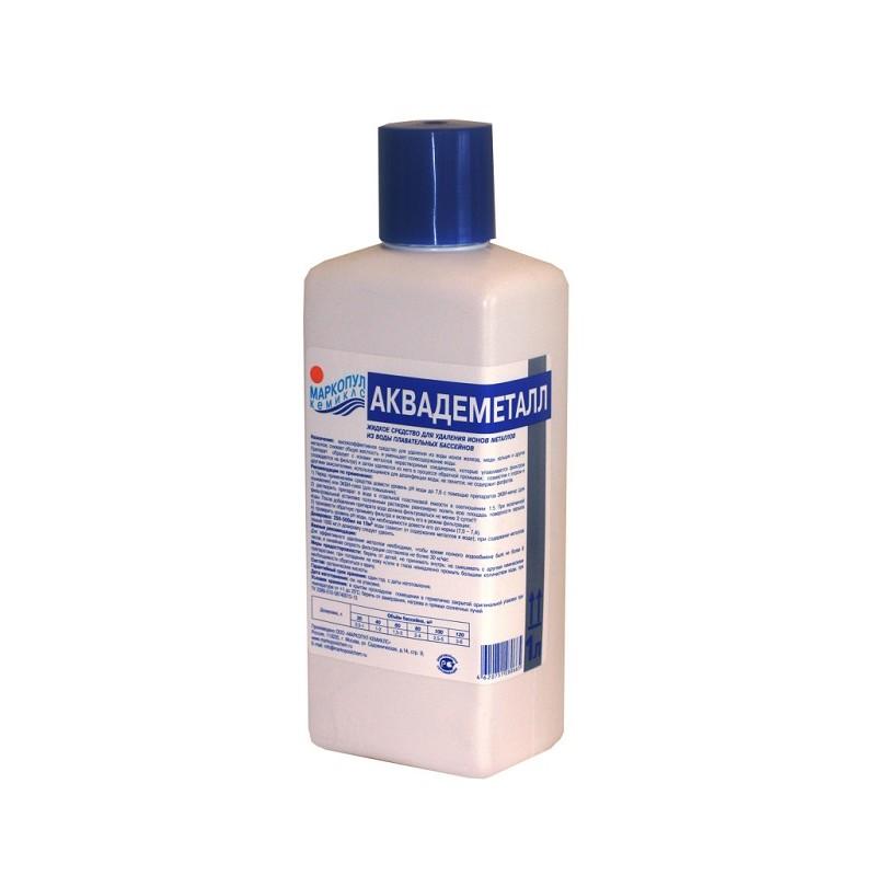 Аквадеметалл Маркопул Жидкое средство для удаления ионов металлов из воды, 1 л