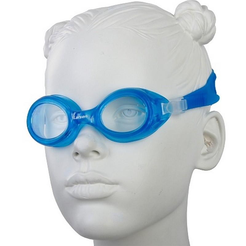 Очки плавательные детские Larsen DS7 голубой