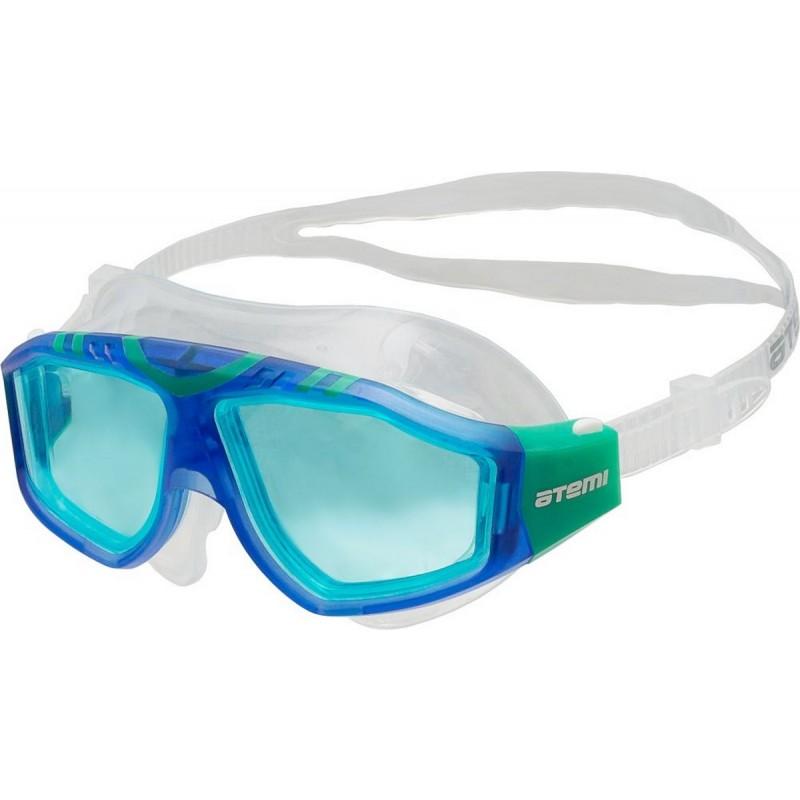 Очки-полумаска для плавания Atemi Z501 синий\зеленый
