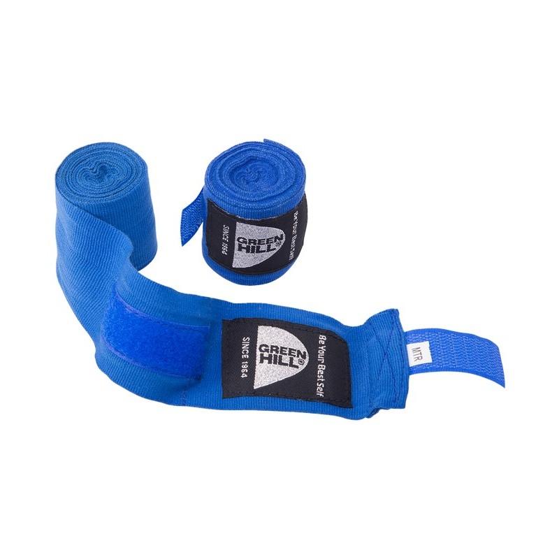 Бинт боксерский Green Hill BP-6232a, 2,5м, эластик синий