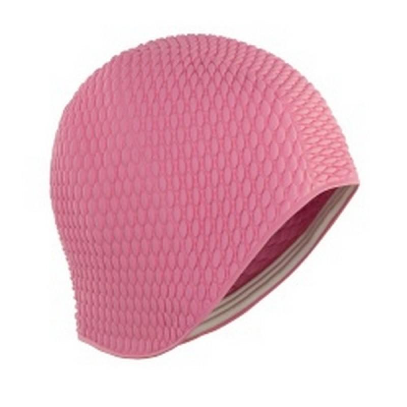Шапочка плавательная Larsen Бабл-кап 3115 розовый
