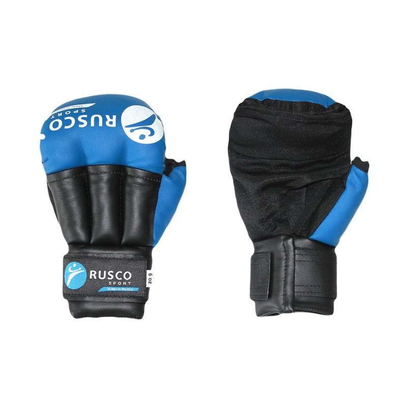 Перчатки для смешанных единоборств Rusco синий 6 oz