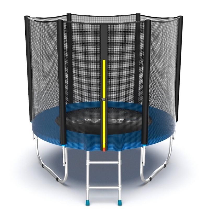Батут с внешней сеткой и лестницей EVO Jump External 6ft, синий