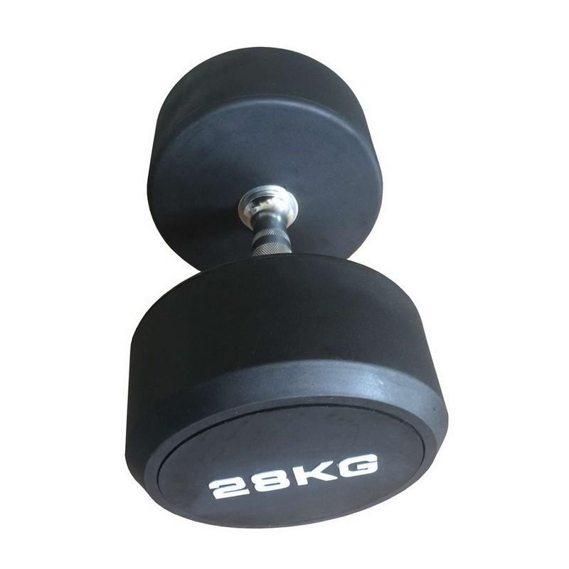Гантель фиксированная обрезиненная Johns 10 кг 74012-10 чёрный