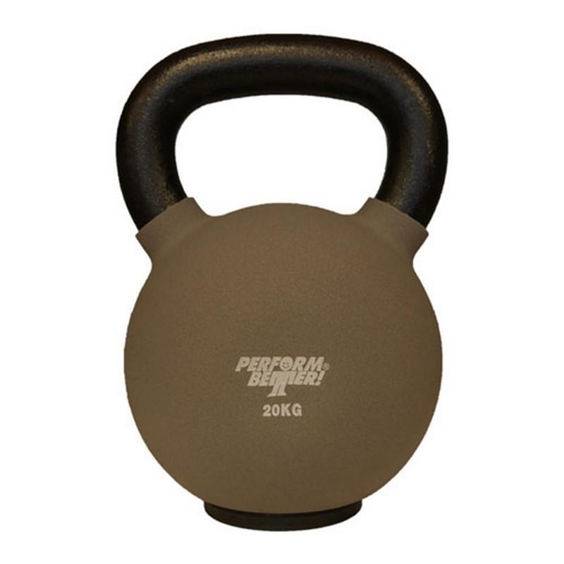 Обрезиненная гиря 20 кг Perform Better Neoprene Kettlebell 8940 серый