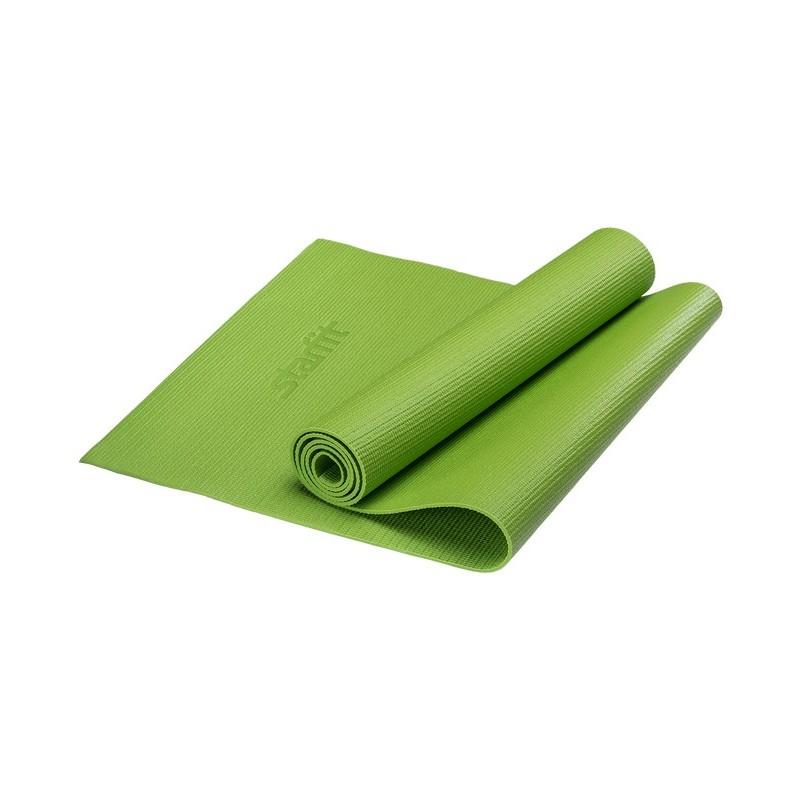 Коврик для йоги Starfit FM-101 PVC 173x61x0,8 см, зеленый
