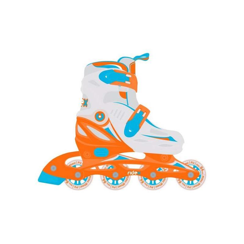 Ролики раздвижные Ridex Cricket Orange, пластиковая рама