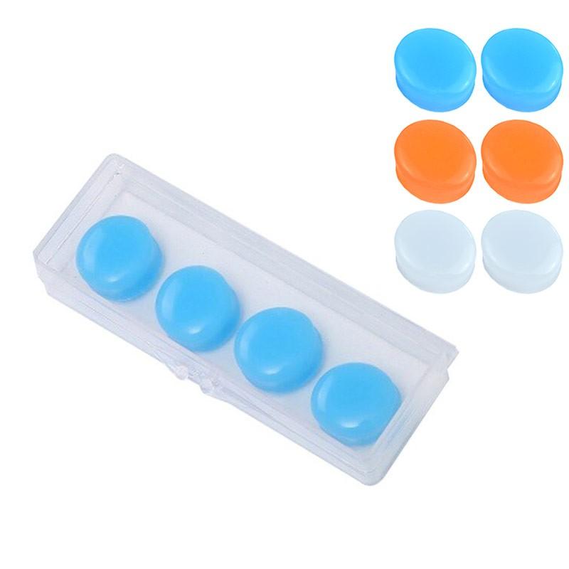 Беруши силиконовые в боксе 4 штуки B32154, голубой