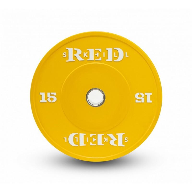 Диск бамперный RED Skill D50мм цветной 15 кг