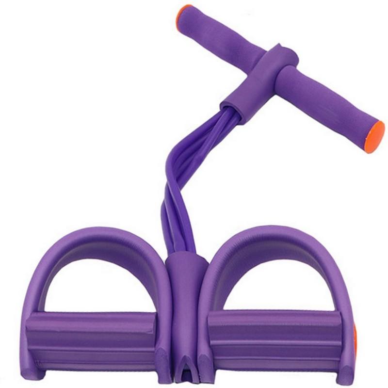 Эспандер многофункциональный с петлями для ног (фиолетовый) B34485