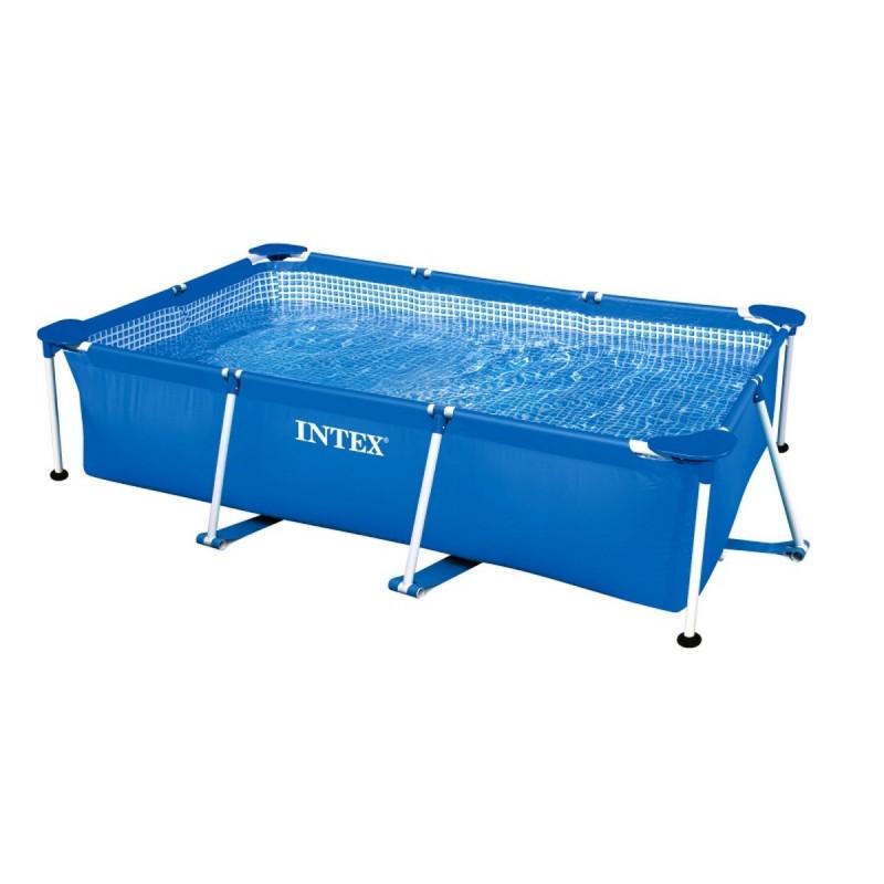 Каркасный бассейн прямоугольный 220х150х60cм Intex Rectangular Frame 28270