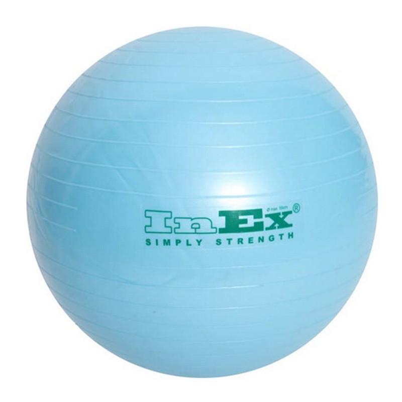 Гимнастический мяч d55 см Inex IN\BU-22\LB-55-00 голубой