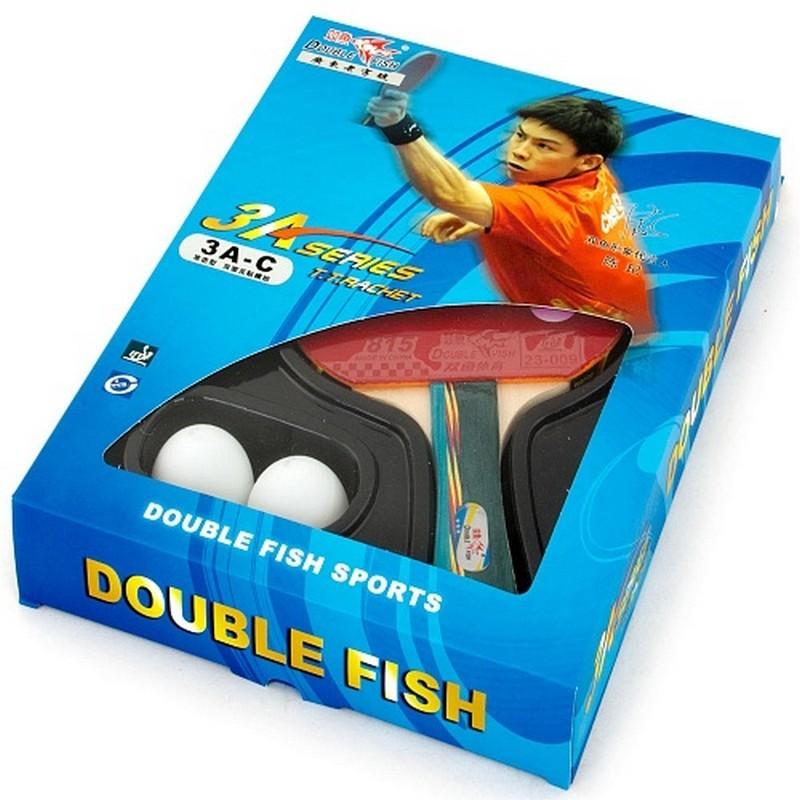 Ракетка для настольного тенниса с шариками Double Fish 3A-C 3star