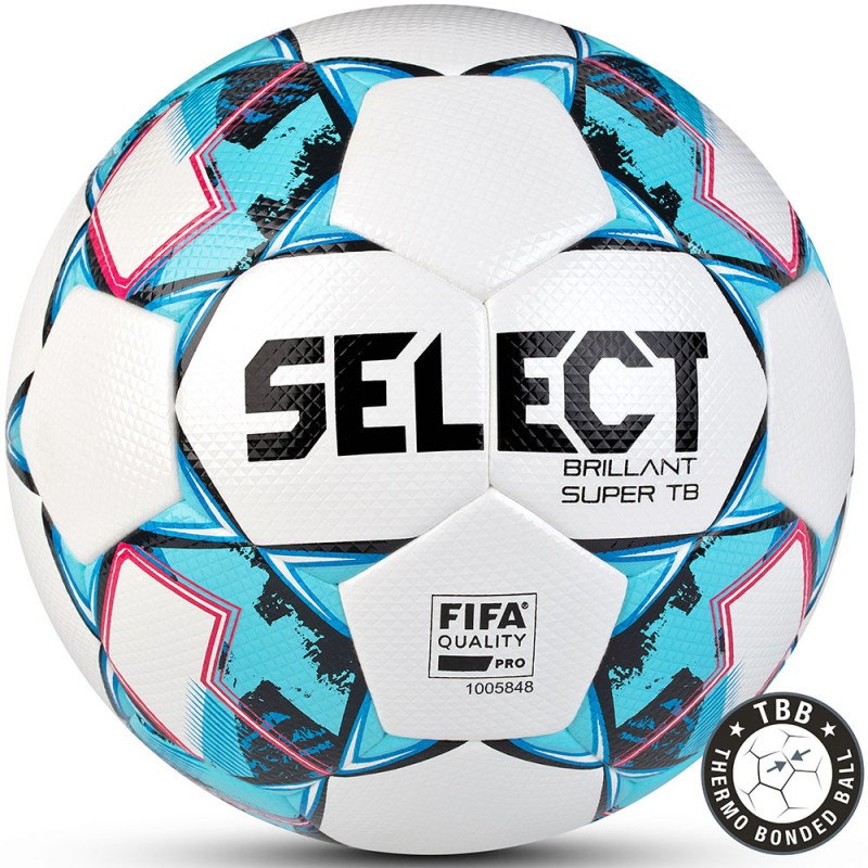 Мяч футбольный Select Brillant Super TB V21 810316-102 р.5, бел-гол
