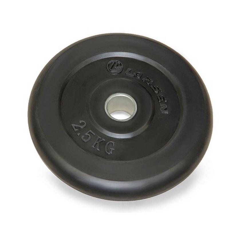 Диск обрезиненный d31 мм 2,5 кг Larsen NT121