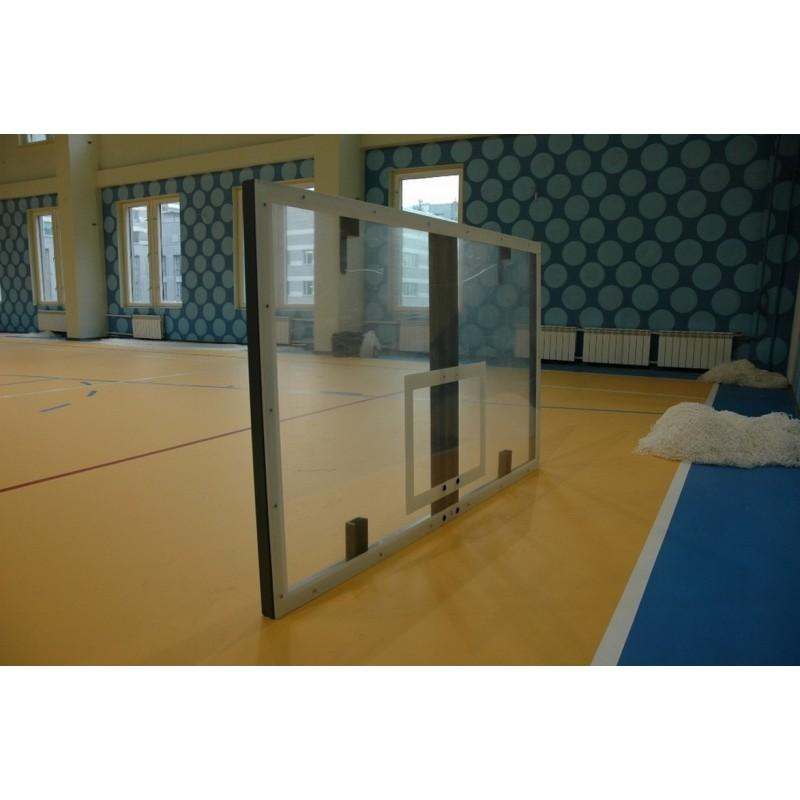 Щит баскетбольный Atlet игровой 180х105 см оргстекло 10 мм на металлической раме IMP-A01