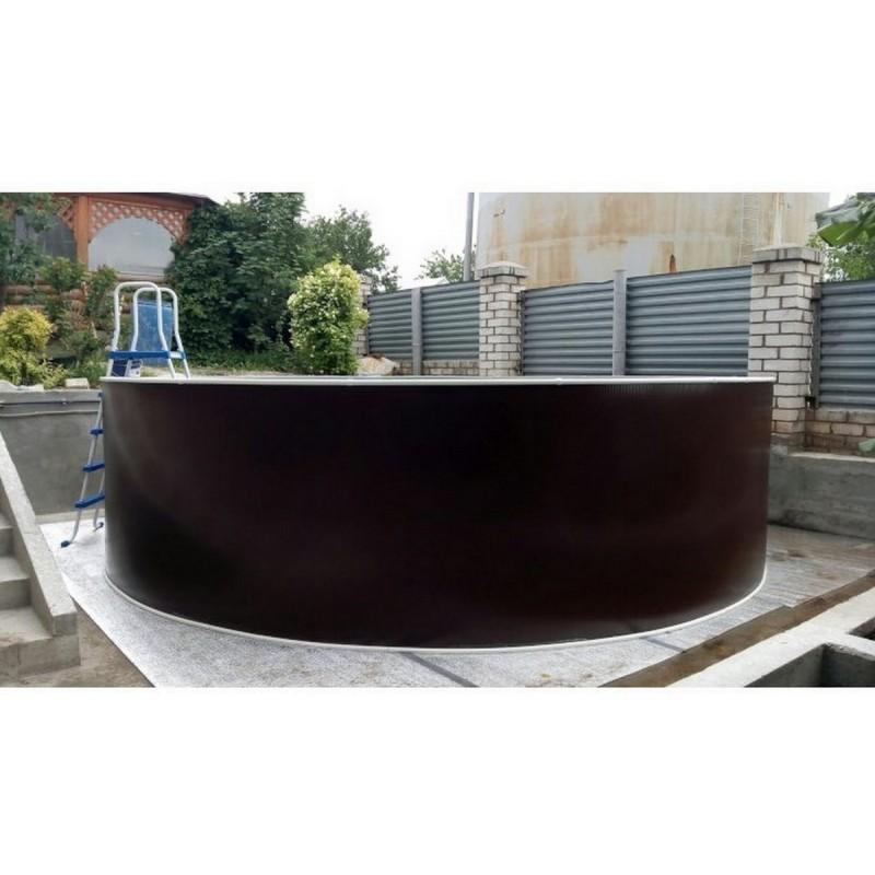 Круглый бассейн 244х125см Лагуна ТМ235/24411 Темный шоколад (RAL 8017)