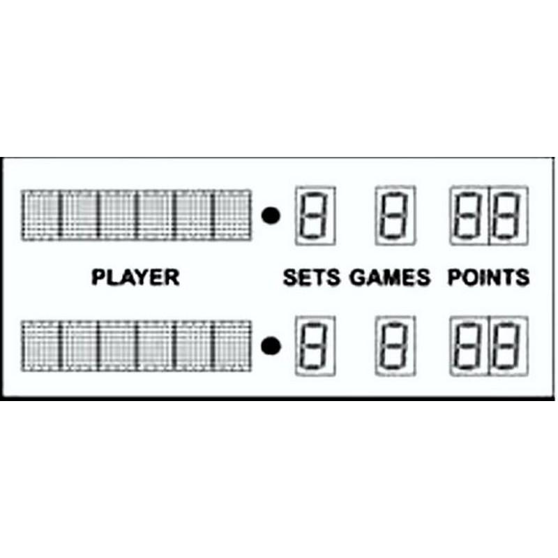 Табло электронное для большого тенниса 180x80x4,4 Glav 11.500