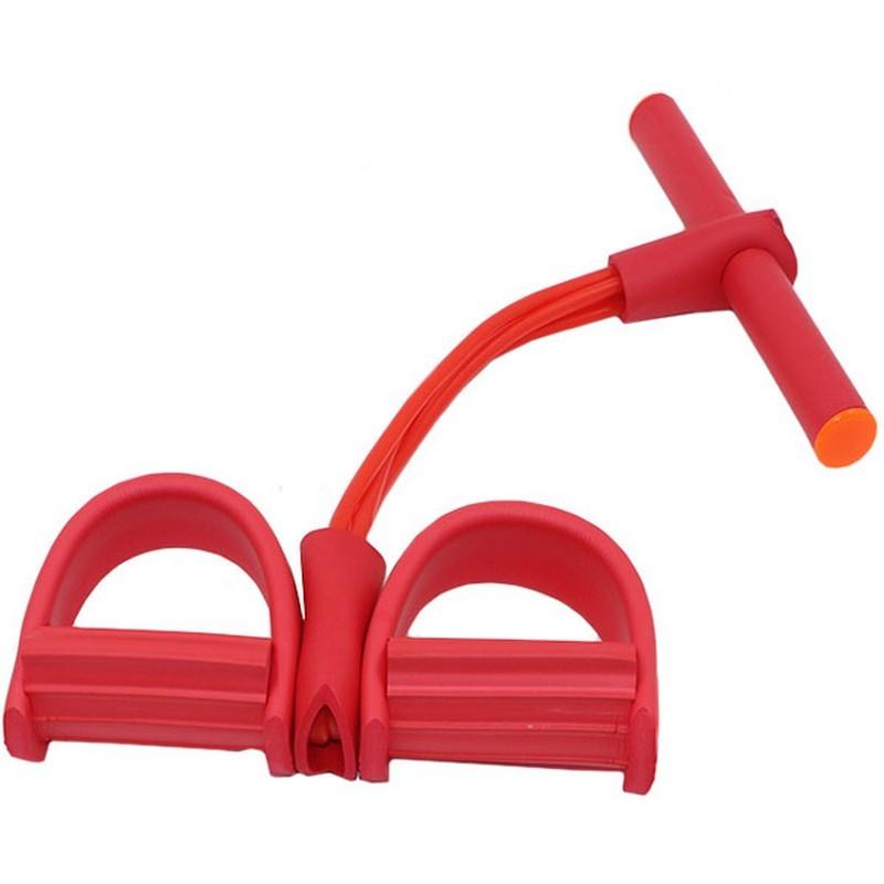 Эспандер многофункциональный с петлями для ног (красный) B34485