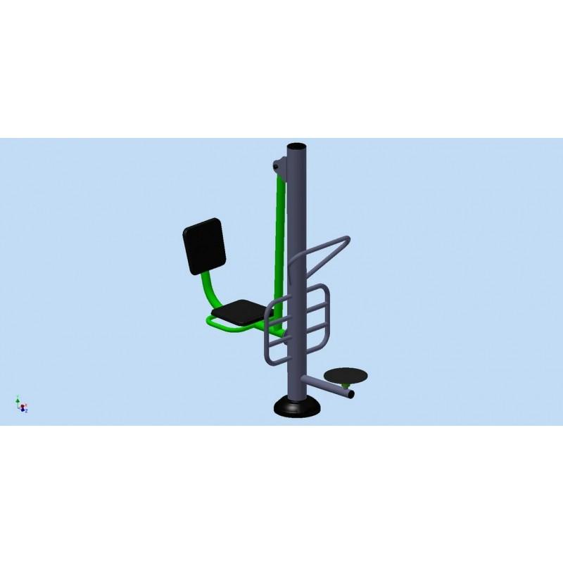 Уличный тренажер взрослый Диск + Жим ногами для двоих Spektr Sport ТС 238